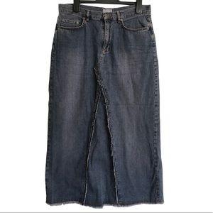 Per Una Maxi Denim Skirt Size 14 L 100% Cotton